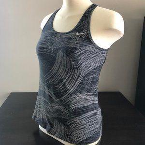 Grey & Black Nike Training Workout Top M